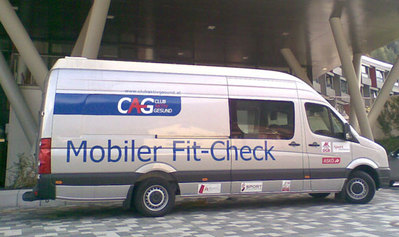 Mobiler Fit-Check Bus